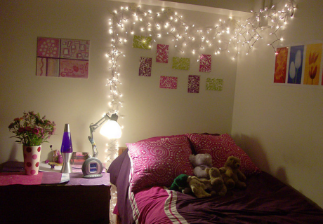 Cheap Ideas To Decorate Your Bedroom Wall Student Beans For - Cool lights for your bedroom