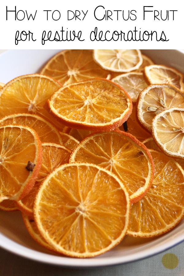 How to Dry Orange Slcies