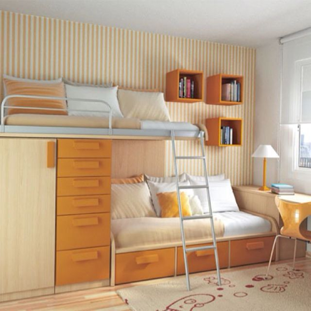 Bunkbed i really really like this the theme layout - Bedroom seating ideas for small spaces ...