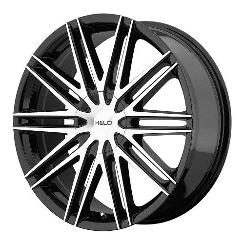 Helo He880 Gloss Black Wheel With Machined Face 16x75x110114 3mm