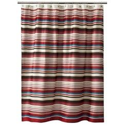 Threshold Herringbone Stripe Shower Curtain Red Target Con