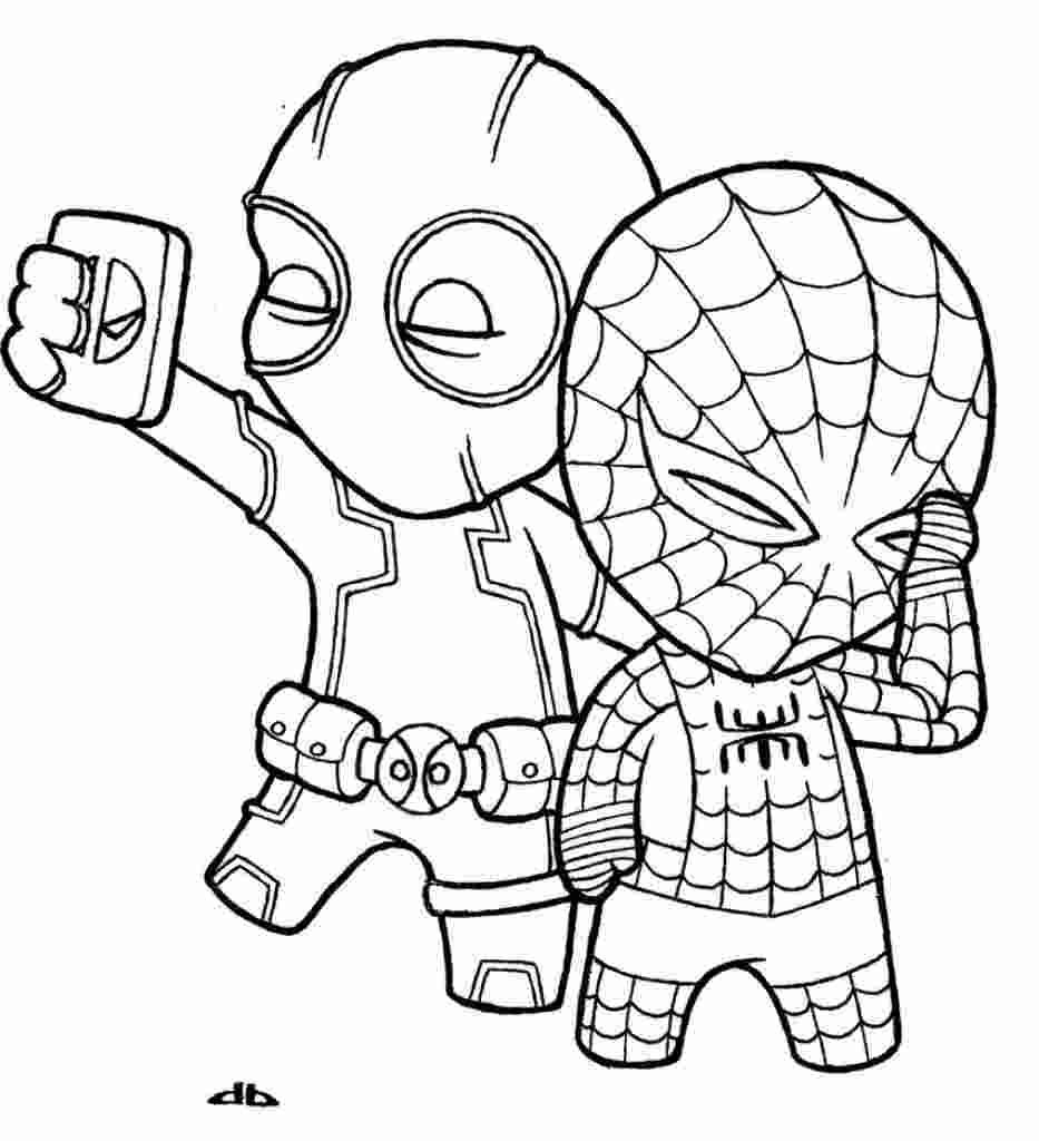 Spiderman coloring pages easy designs in 5  Spiderman coloring