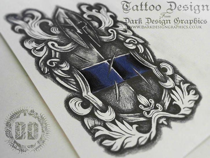 warrior shield crest tattoo design tattoo designs graphics and tattoo rh pinterest com raider shield tattoo designs cross shield tattoo designs