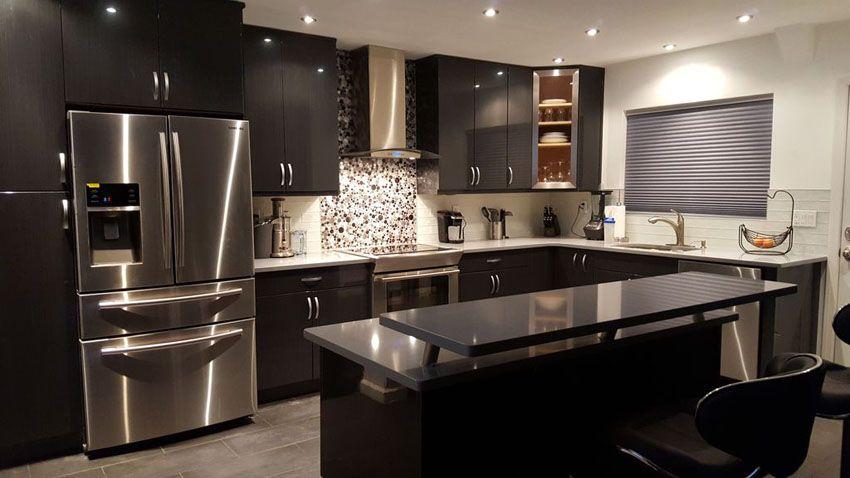 Beautiful Black Kitchen Cabinets Design Ideas Black Kitchen Cabinets Kitchen Cabinet Design Kitchen Remodel Small