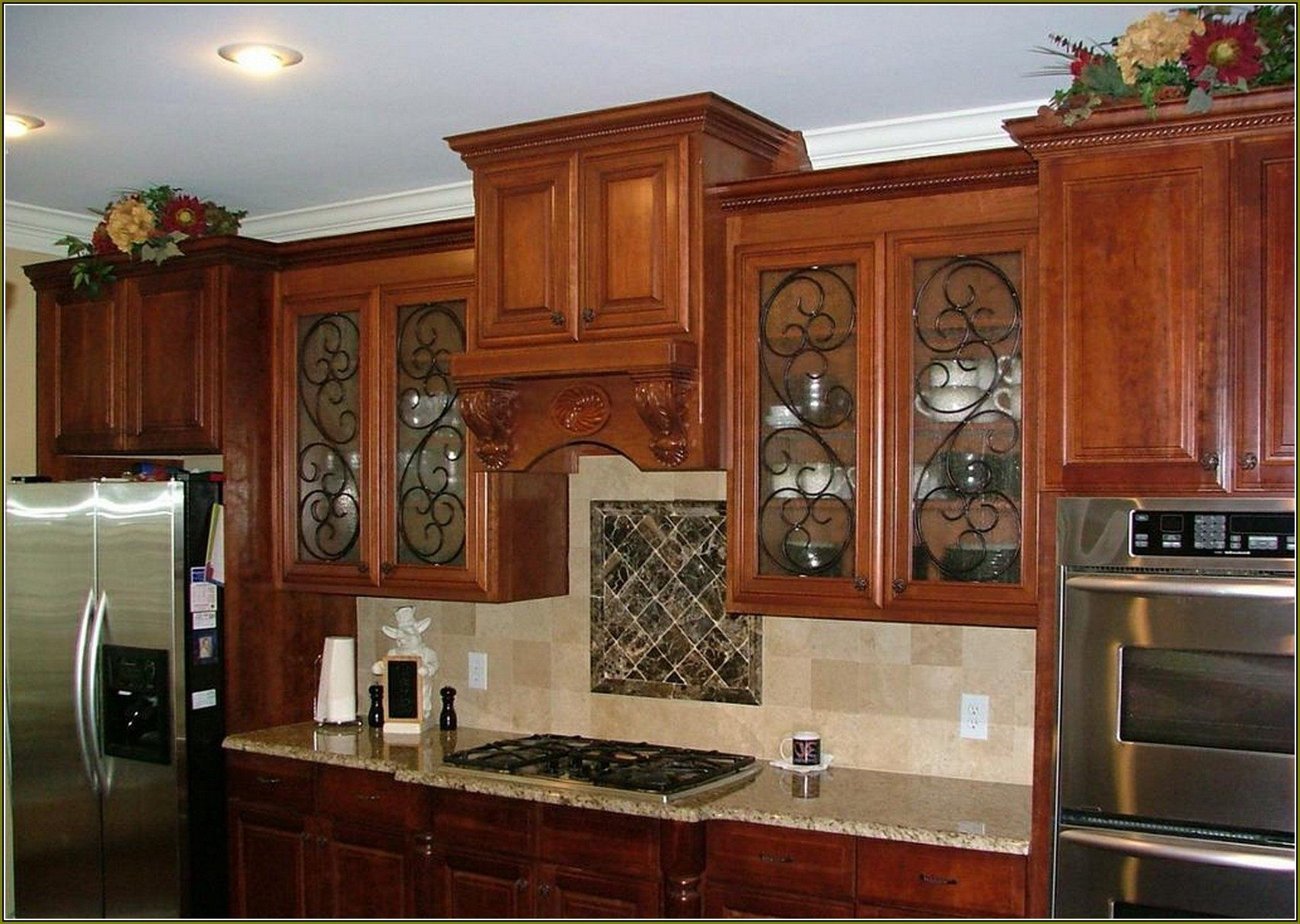 Image result for stained glass cabinet doors