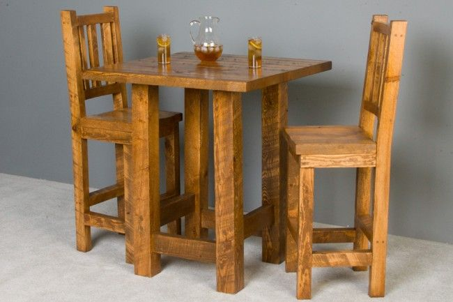 barnwood pub table and chairs man cave pub table chairs high dining table patio bar table. Black Bedroom Furniture Sets. Home Design Ideas