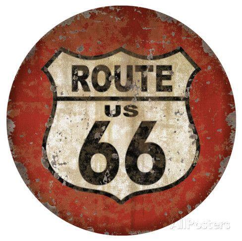 Route 66 Dome Sign Cartel de chapa