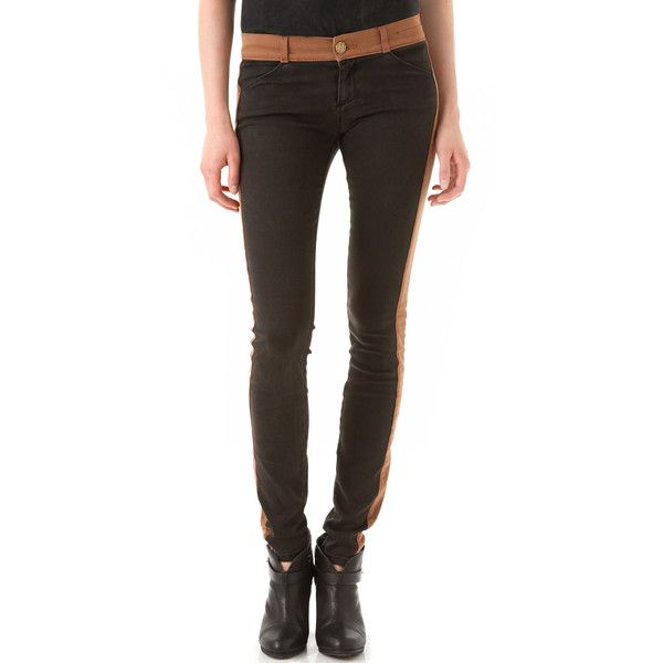 Current/Elliott The Rider Legging Jeans ($218) ❤ liked on Polyvore