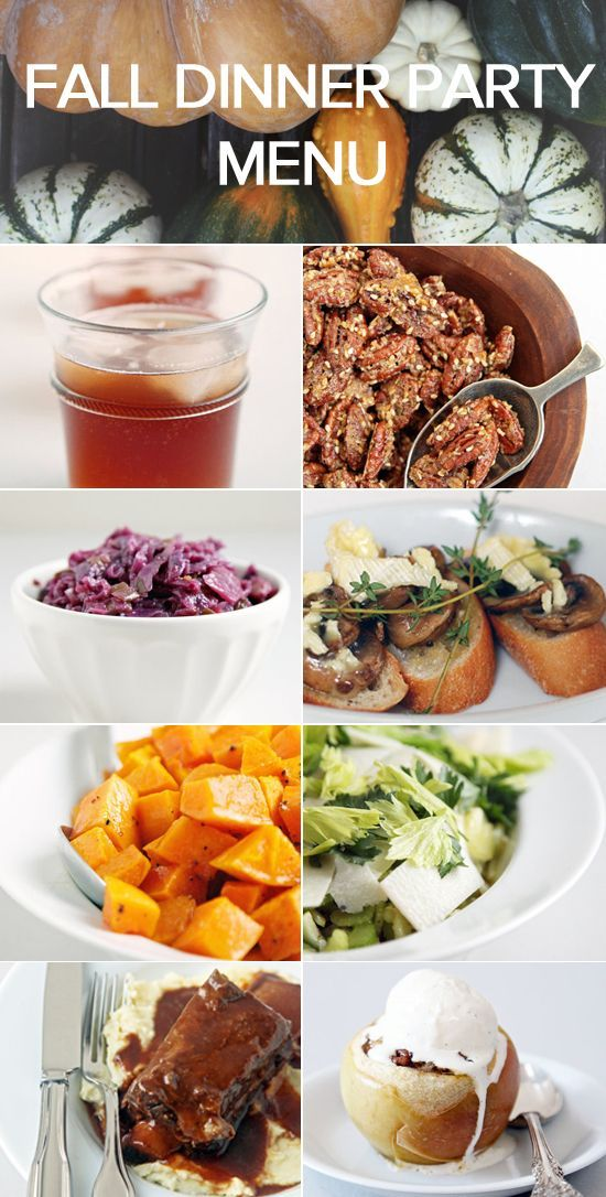 autumn dinner party menu ideas