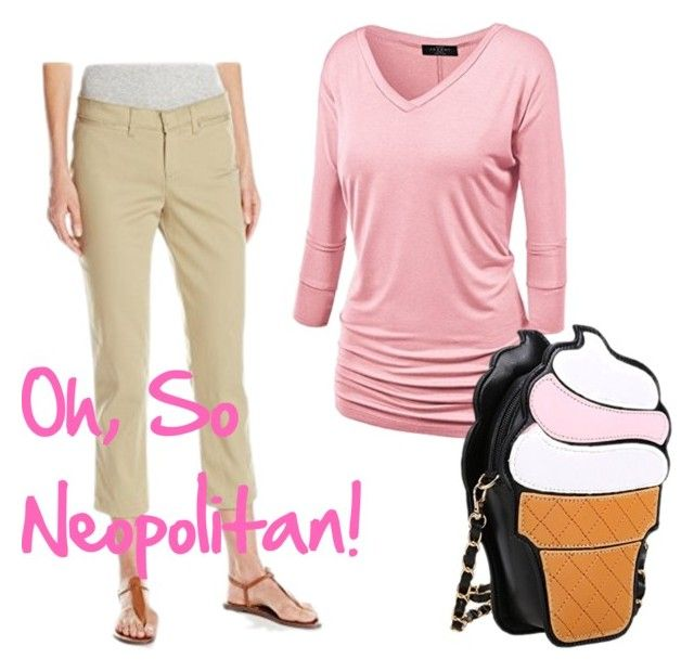 """""""Oh So Neopolitan"""" by selenastagg ❤ liked on Polyvore featuring Dickies and icecreamtreats"""