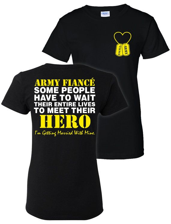 3cb81cb91333 Army Fiance T-Shirt Shirt Army Wife Also Available by ShopLintyCat ...