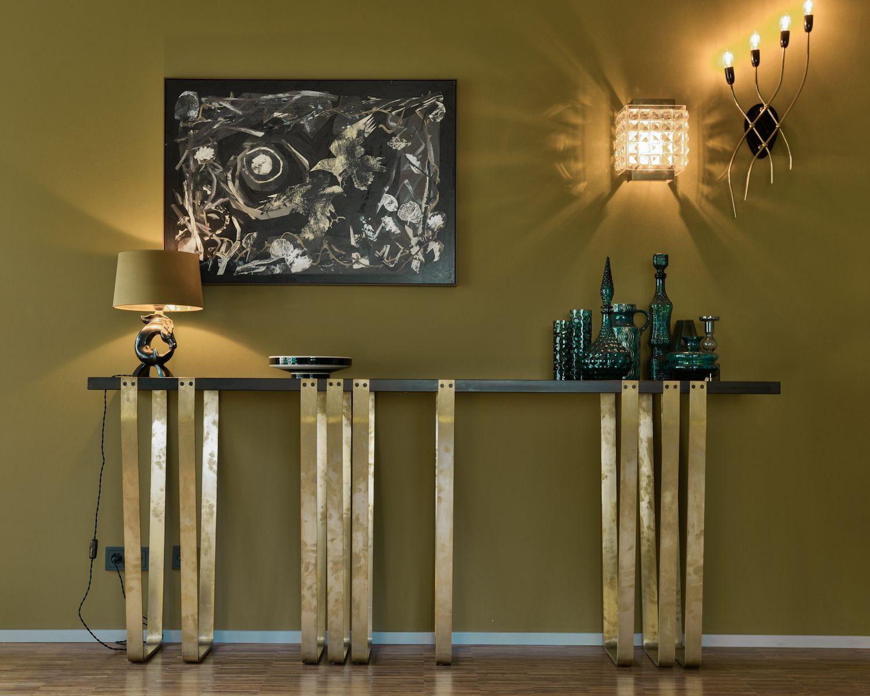 Tiergarten Bauhaus International Style Konsole Messing Stahl Grner Marmor Midcentury Design Lampen