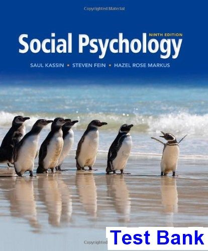 Social psychology 9th edition kassin test bank test bank social psychology 9th edition kassin test bank test bank solutions manual exam bank fandeluxe Images