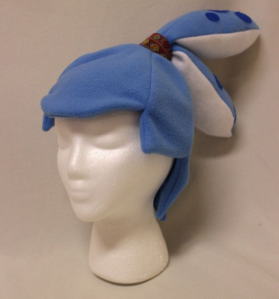 Blue Inkling Boy Squidkid Hat Inspired By The Video Game Splatoon Made From Stretchy