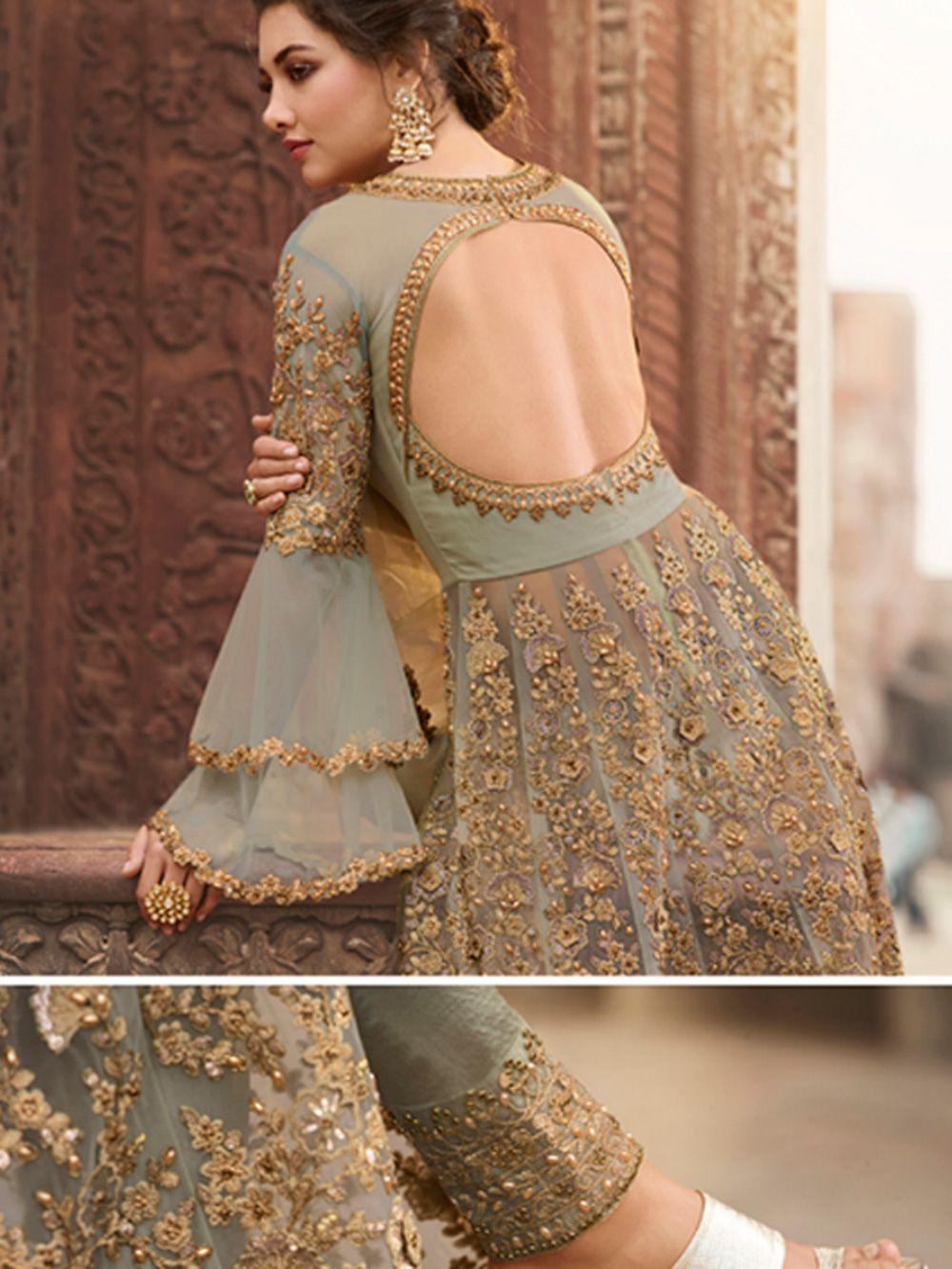 Wedding Punjabi Suit Lehenga Bridal Wear Gown Green Embroidered Ethnic Indian Pakistani Salwar Kameez Anarkali Suit Party Wear Kurti