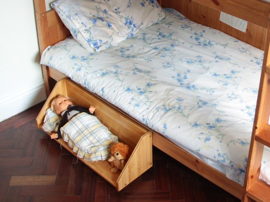 Clip On Bed Shelf Bamboo Children Furniture Condo Living