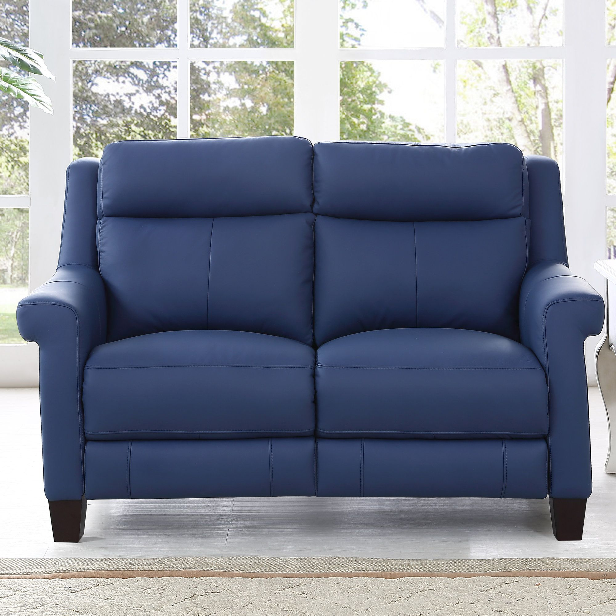Dolce leather reclining loveseat