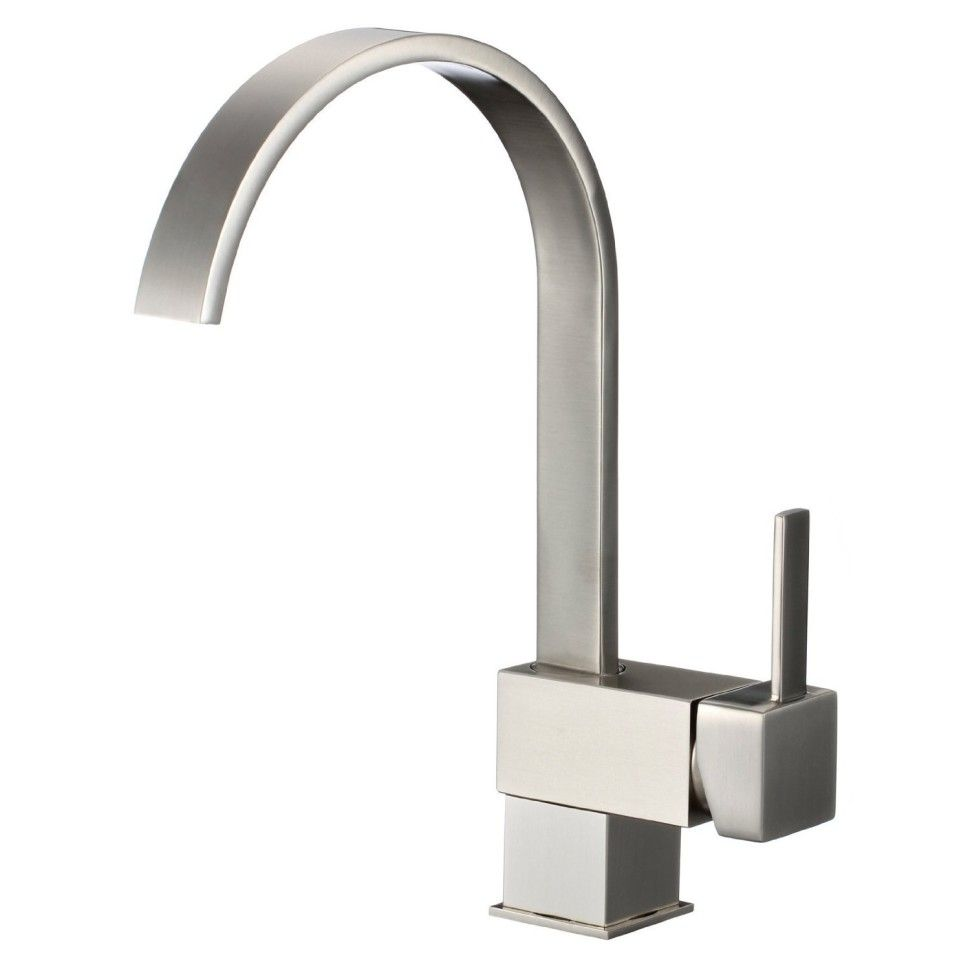 freuer organica collection modern kitchen wet bar sink faucet brushed nickel faucets to start coupon sticker - Modern Kitchen Faucets