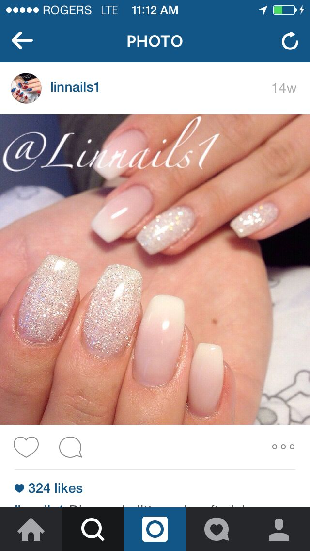 French fade with glitter