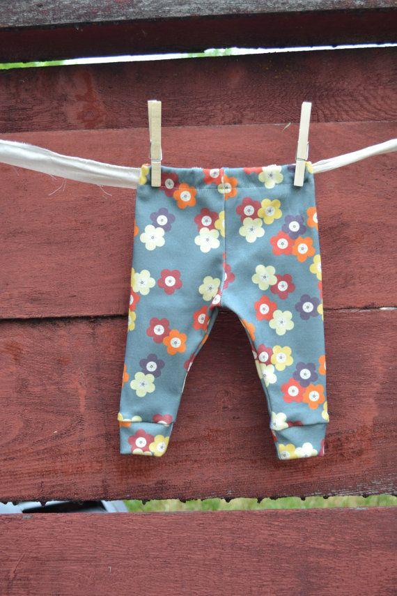 Baby leggings girl leggings organic cotton by littlenuggetrepublic