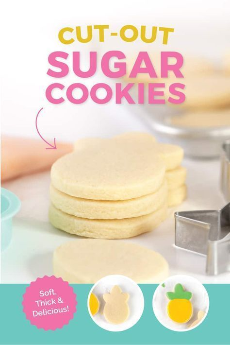 The best, SOFT cut out sugar cookie I've ever made! Customizable for any occasion, these soft & thick cut out sugar cookies are perfect for Christmas, Valentines, and birthday cookies! I'll walk you through tips on how to roll out the dough to avoid spreading & sticking, as well as my favorite, easy frosting recipes. #sugarcookies