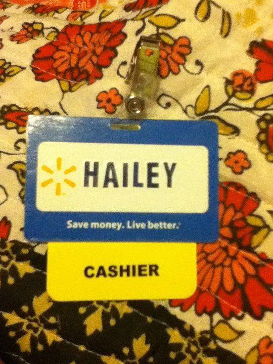 Walmart name tag