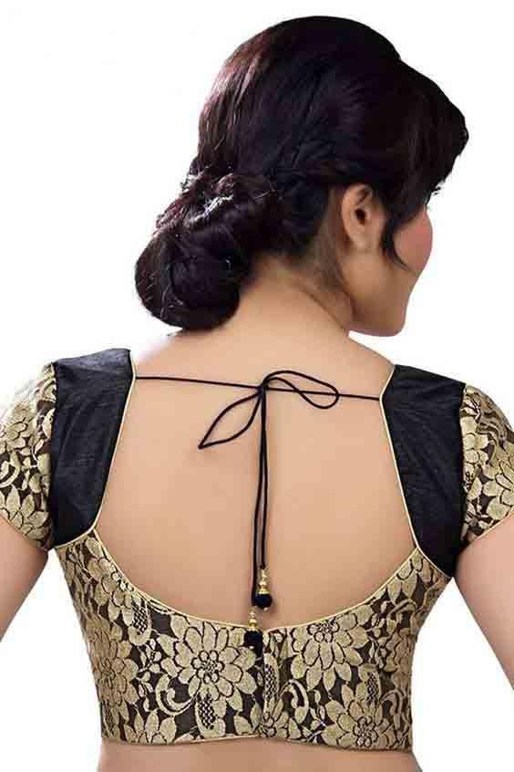 Saree blouse front designs 2018