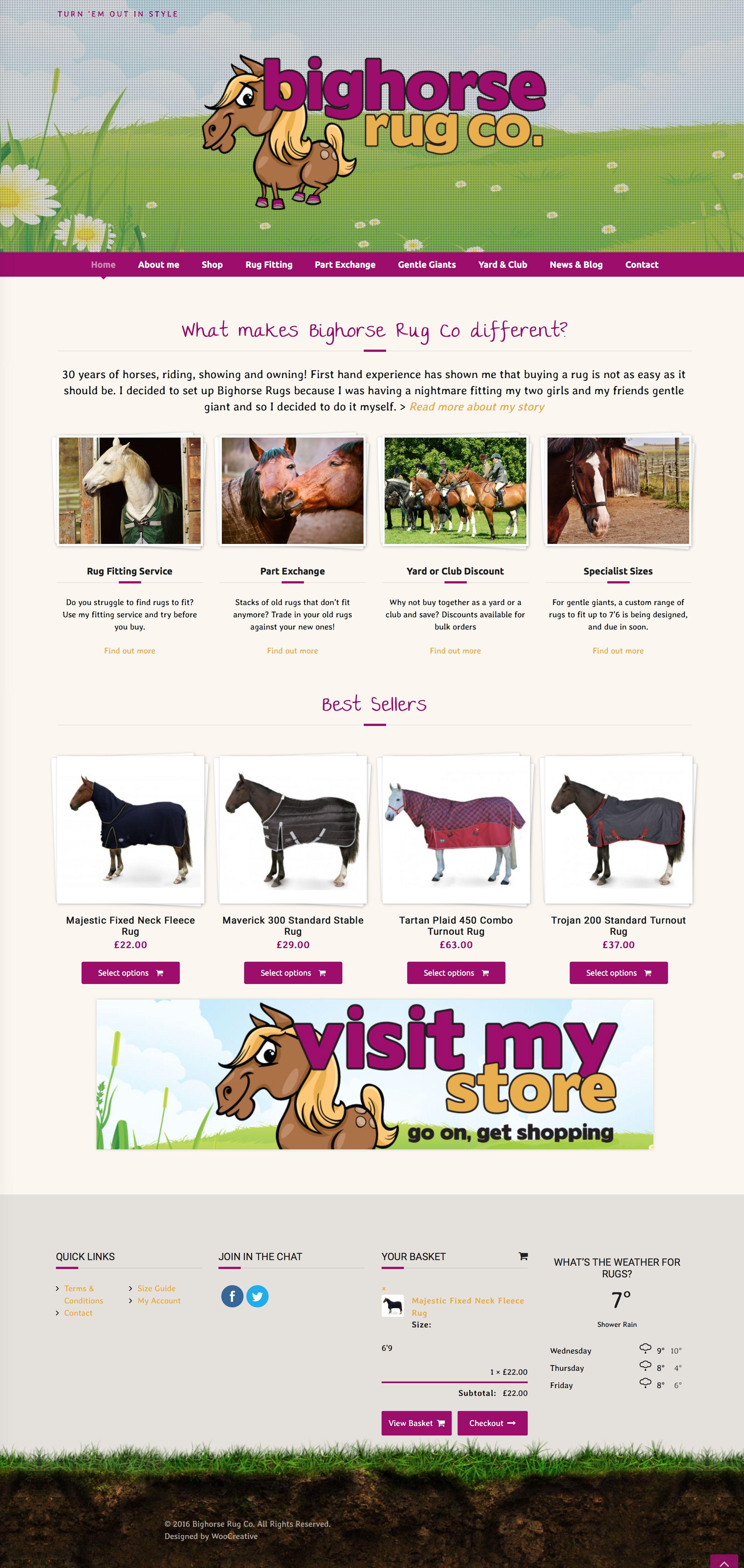 Ecommerce website for Bighorse Rug Co | My Portfolio - Website ...