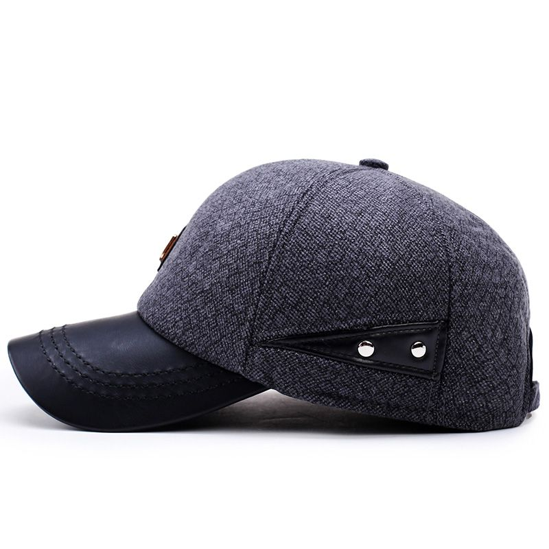 f96c758a7ef  AETRENDS  2017 New Autumn Winter Baseball Cap Men Keep Warm Snapback Bone Men s  Hats with Ear Flaps Dad Hat Z-5923
