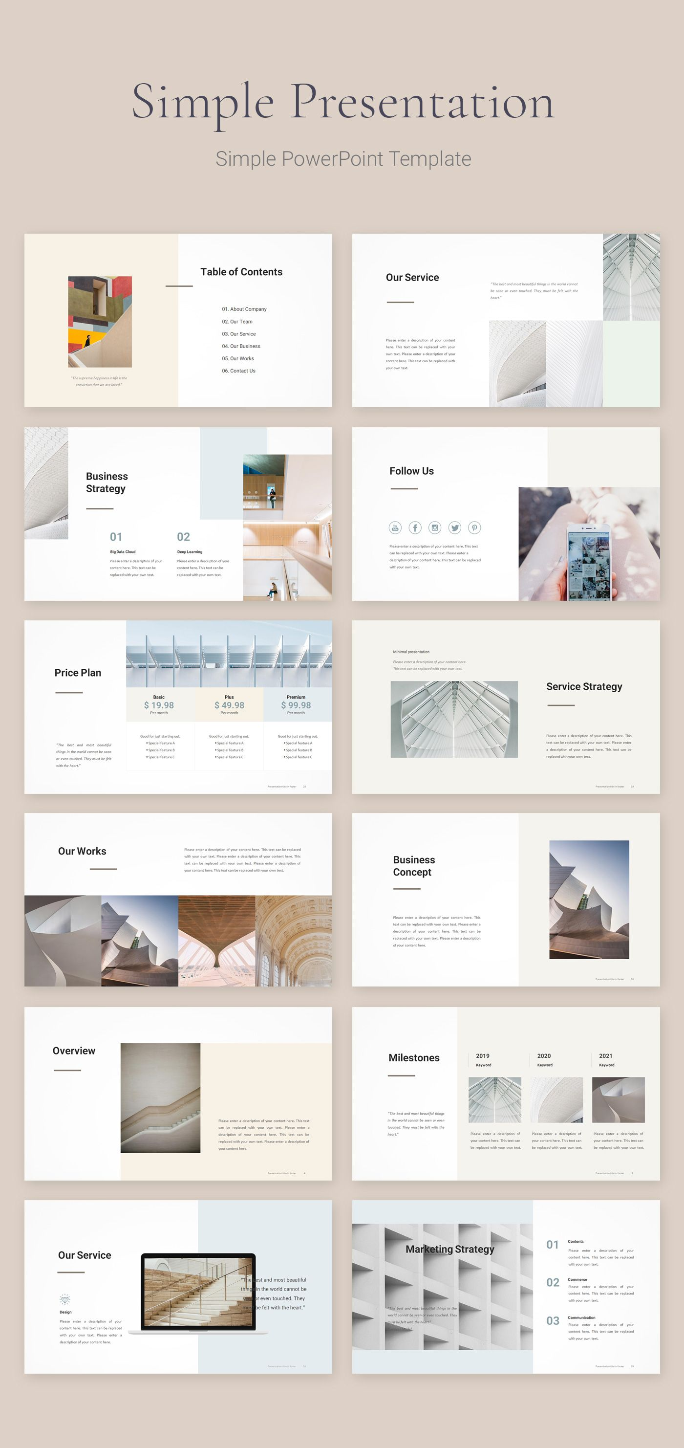Simple Business Strategy Template Download Powerpoint Powerpoint Design Templates Simple Powerpoint Templates Ppt Template Design
