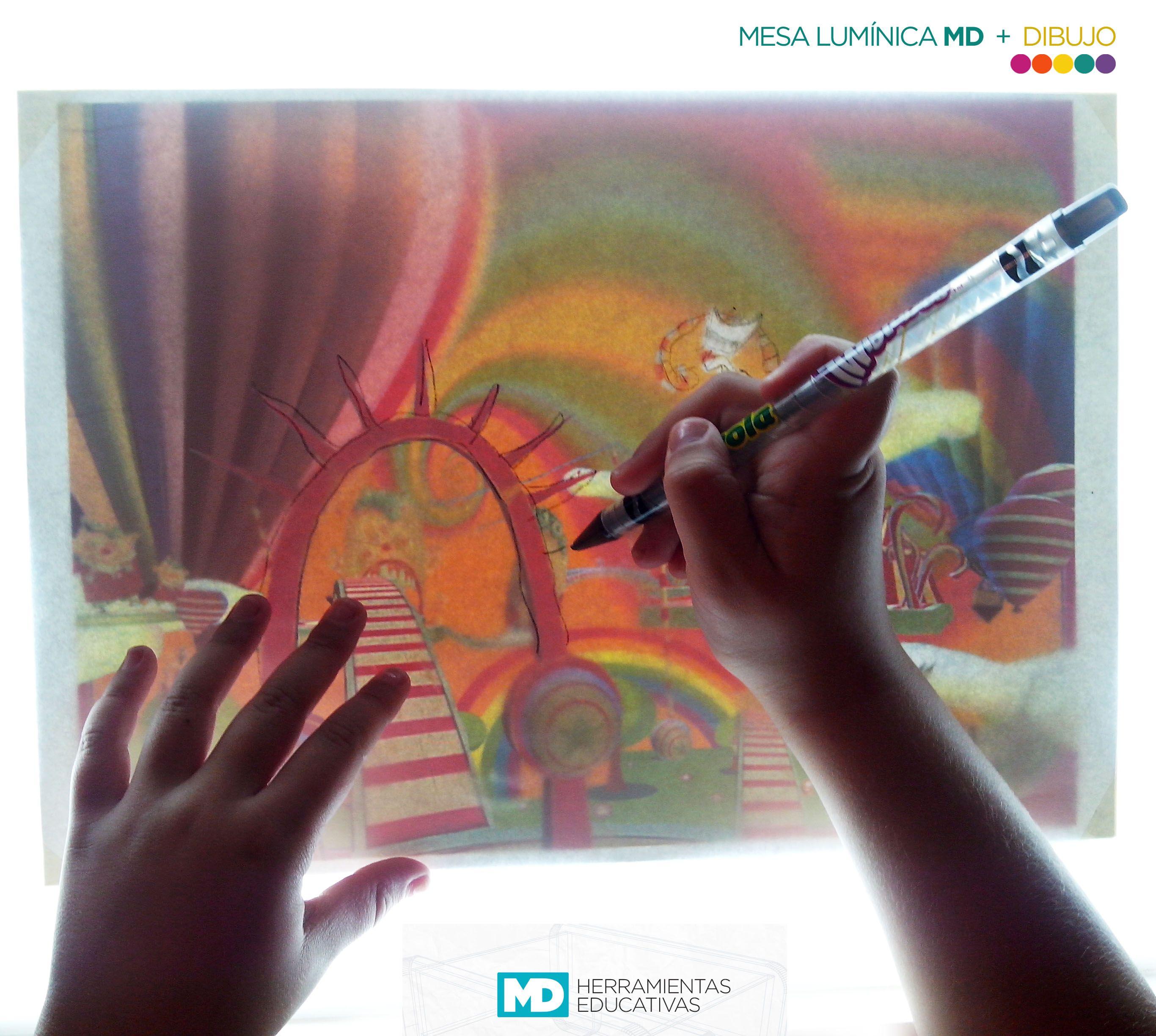 Dibujar y calcar. Pinta y crea tus propias técnicas artísticas. #Educación #Creatividad #Juego #Diseño #Dibujo #Concentración #Arte #Infancia