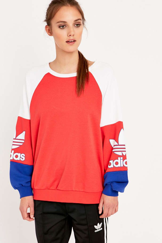 adidas White LA Crewneck Sweatshirt - Urban Outfitters   Style and ...