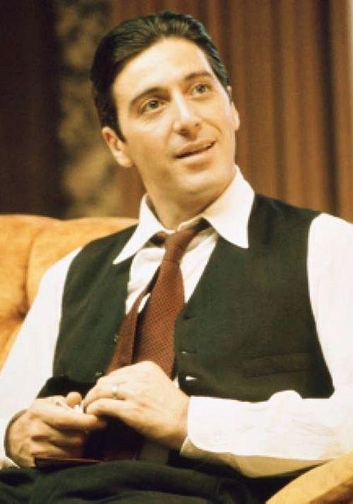 Al Pacino On The Set Of The Godfather Part Ii 1974 Al Pacino