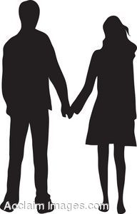 Clip Art Of A Couple Holding Hands Silhouette Hand Silhouette Couple Holding Hands Couple Silhouette