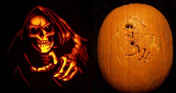 Reaper Scary Pumpkin Carving Patterns Halloween Pinterest