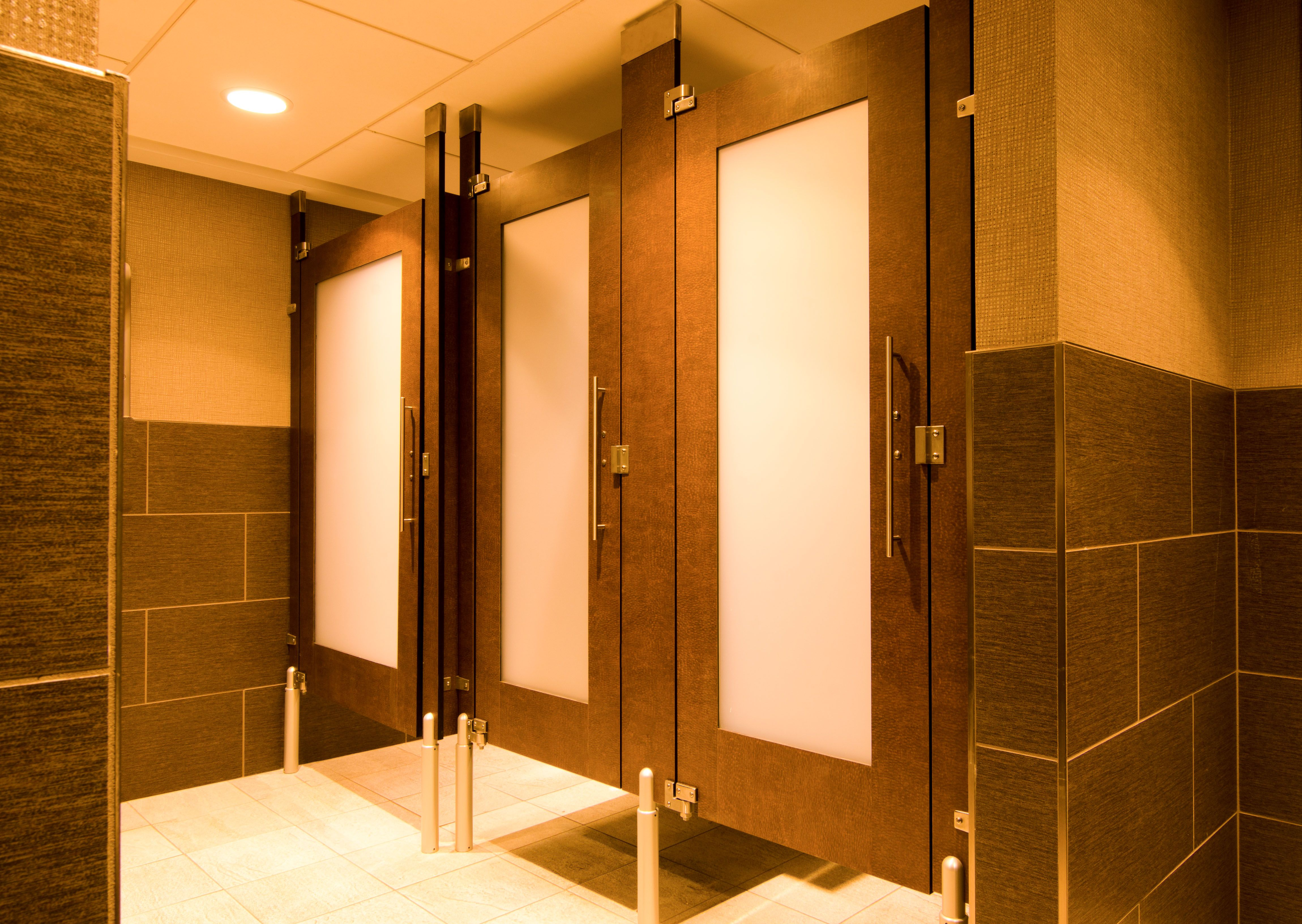 Ironwood Manufacturing Toilet Partitions With Custom Laminate - Laminate bathroom partitions