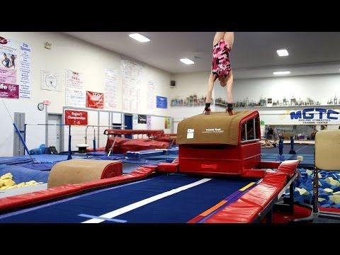 Back Handspring Drill Drop From Block To Hands On Low