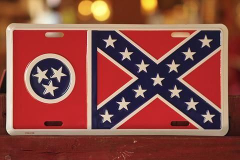 Tennessee Battle Flag License Plate Plates Flag Battle