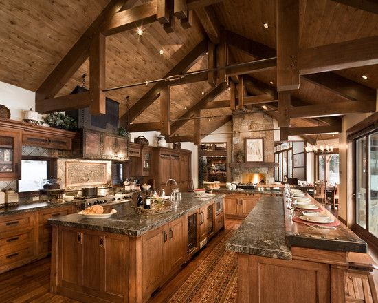 Kitchen Design Rustic log cabin kitchens design, pictures, remodel, decor and ideas