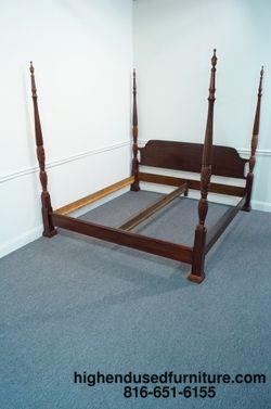 King Size Poster Beds | Cresent Crescent King Size 4 Poster Rice Carved  Plantation Bed | EBay