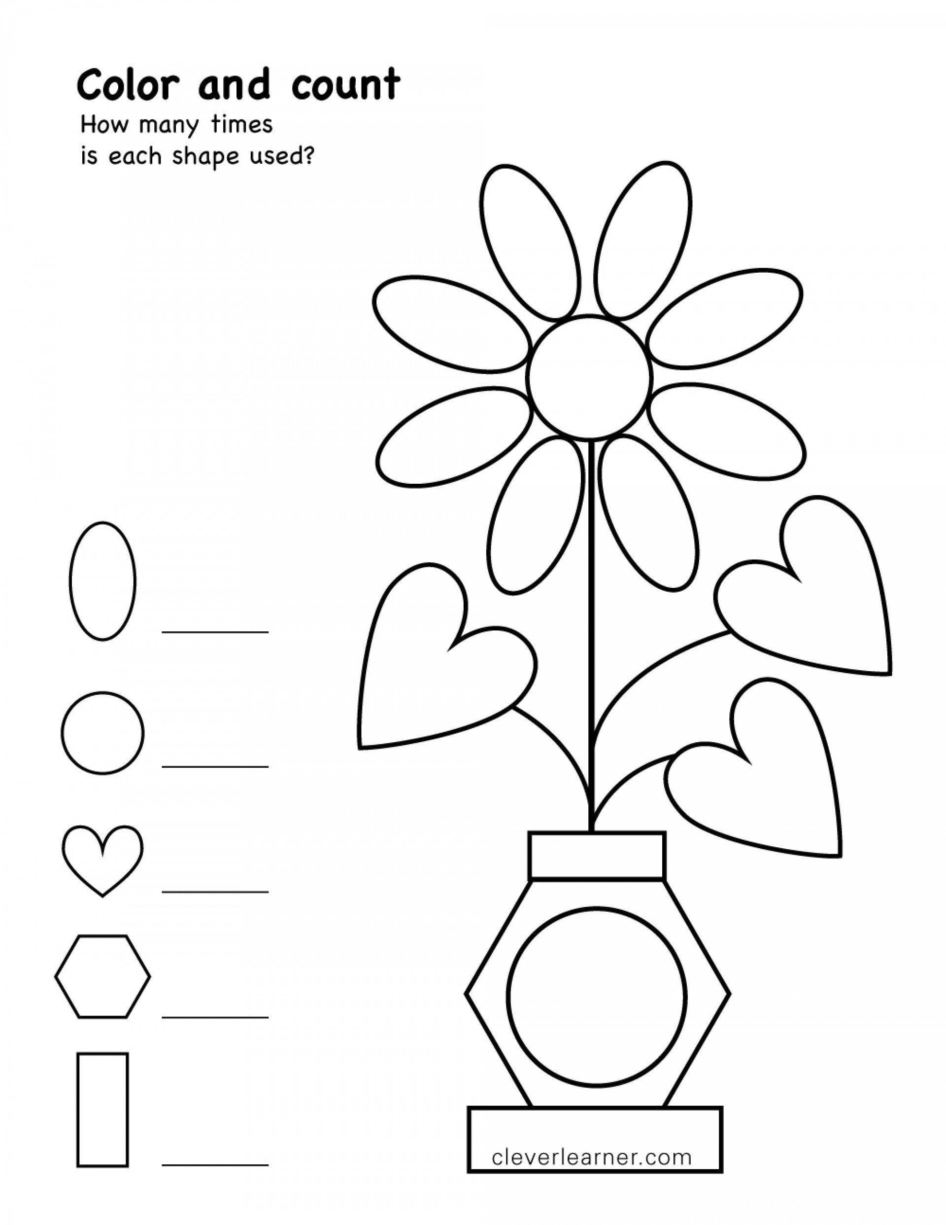 Two Dimensional Shapes Worksheets Coloring Worksheet