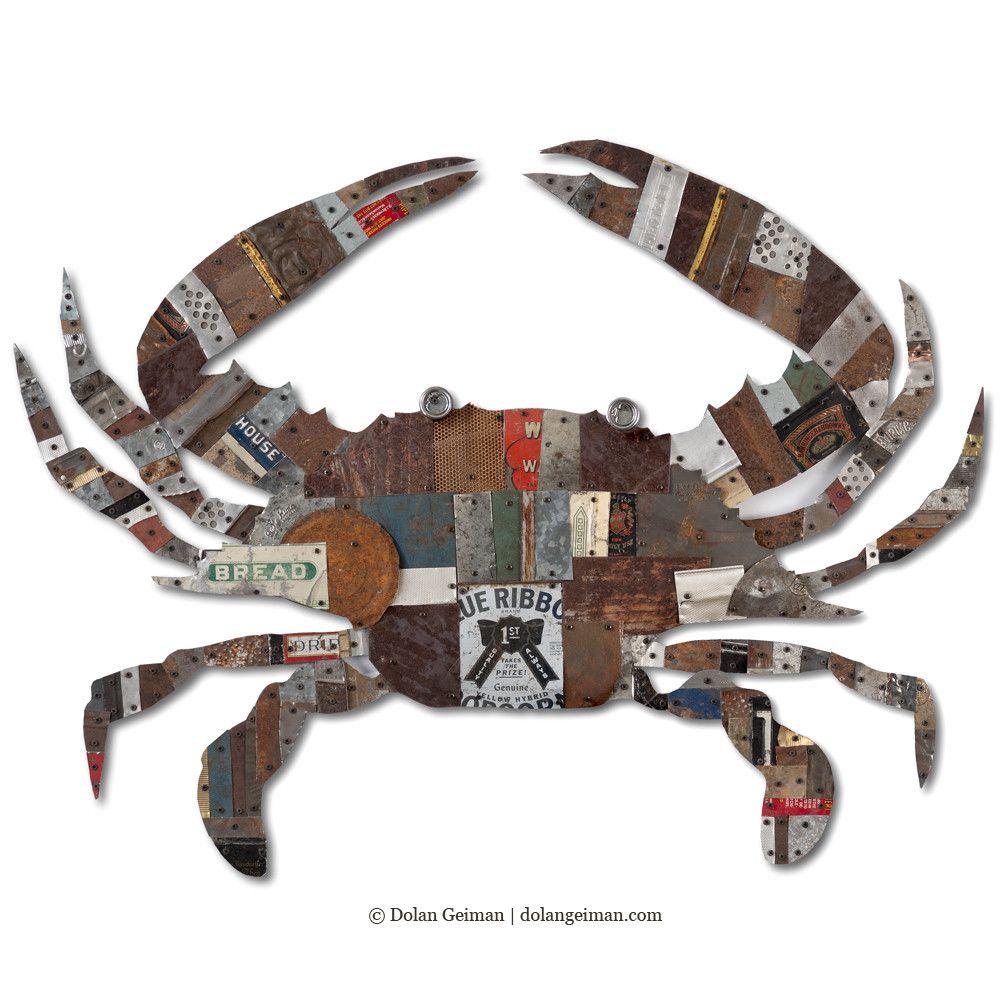 Blue Crab Metal Wall Sculpture Dolan Geiman