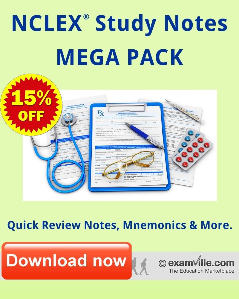 Nclex study review notes mega pack quick review facts mnemonics find this pin and more on nursing and medicine fandeluxe Gallery