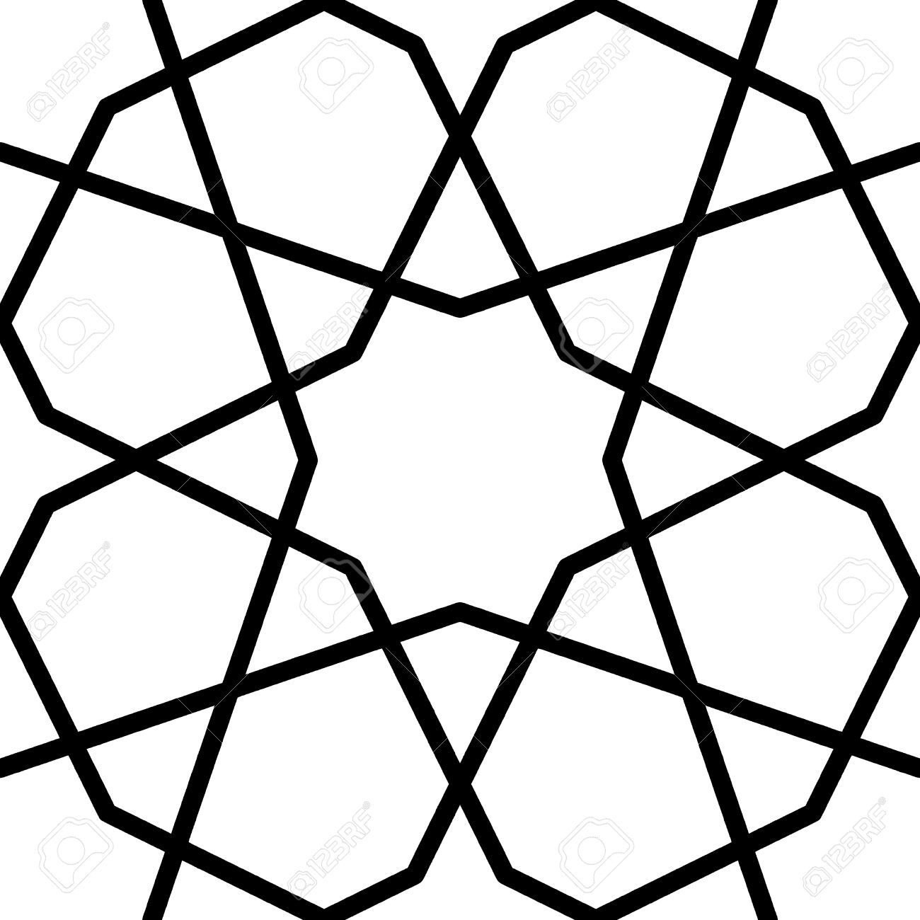 Geometric Islamic Pattern By Sun And Flower Islamic Pattern Geometric Flower Vector Art