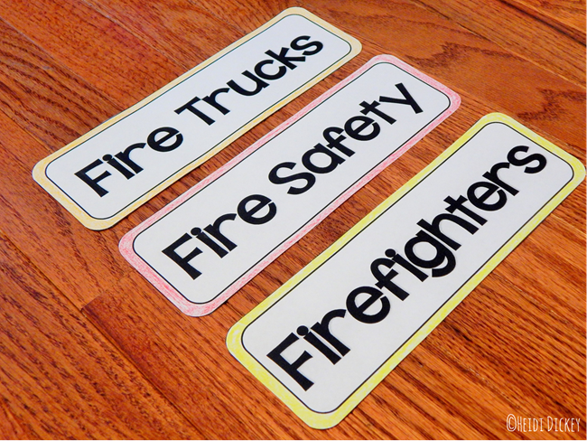 Fire Safety Chart Parts