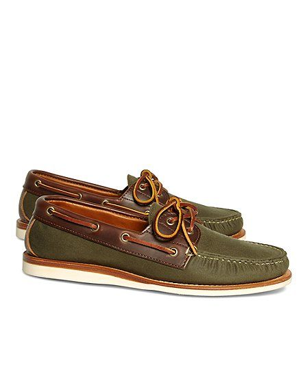Boat shoes that work on and off the dock #BBSpring2014 #RedFleece
