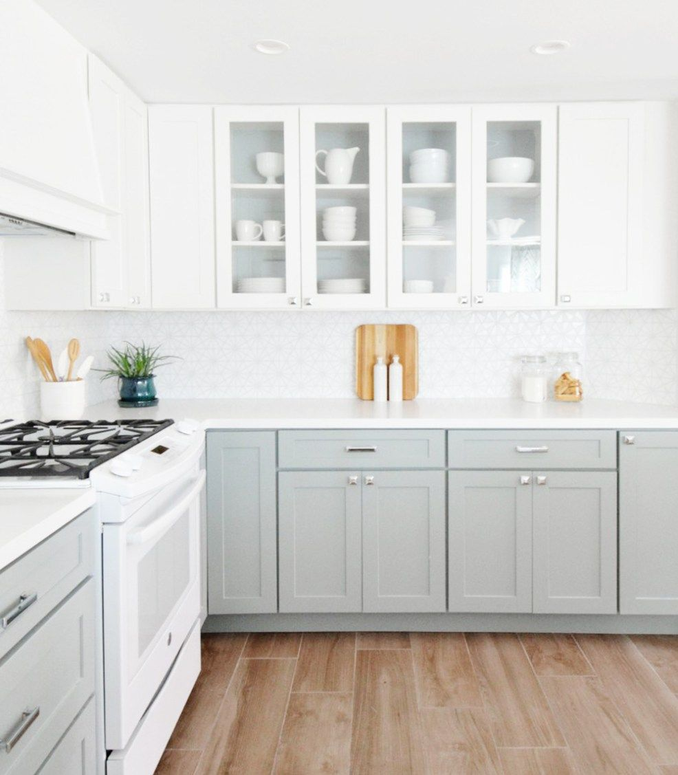 Get The Look The Two Tone Kitchen Diy Kitchen Renovation