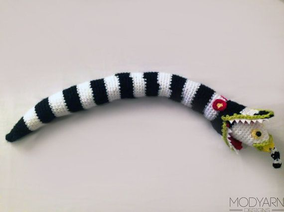 Beetlejuice Sandworm Crochet Plushie Large Size By Modyarndesigns Beetlejuice Sandworm Beetlejuice Crochet