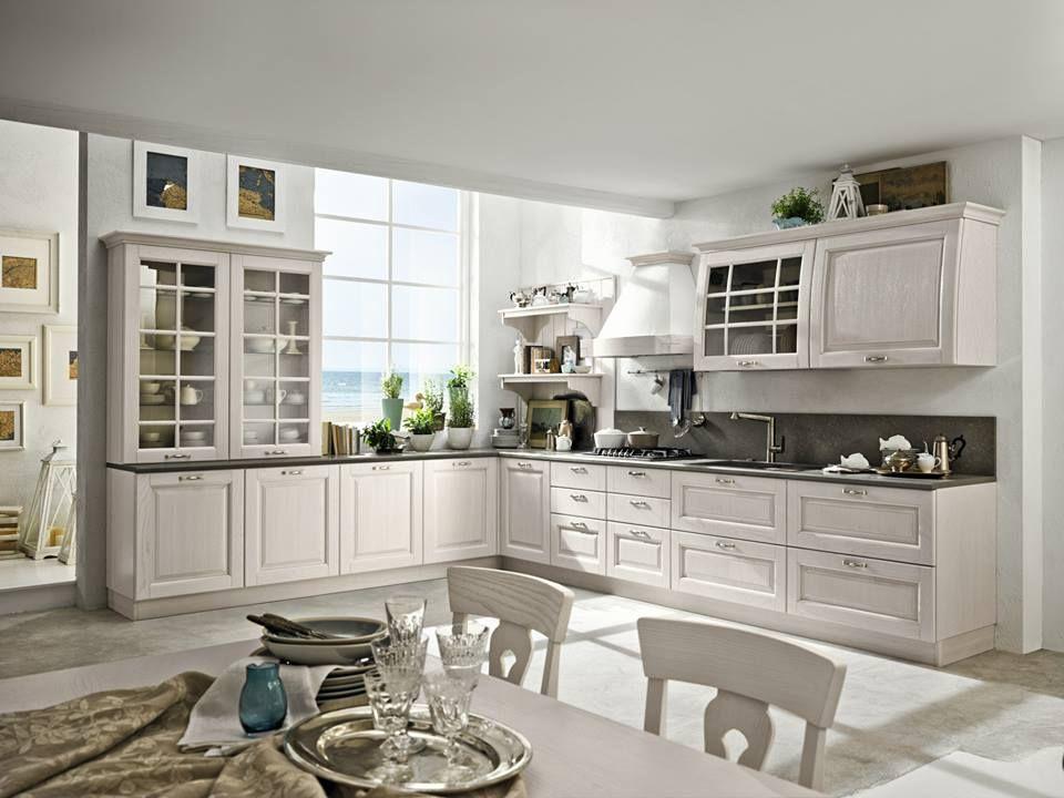 Stosa Cucine Collezione Bolgheri Finitura Bianco Cotone Decapè