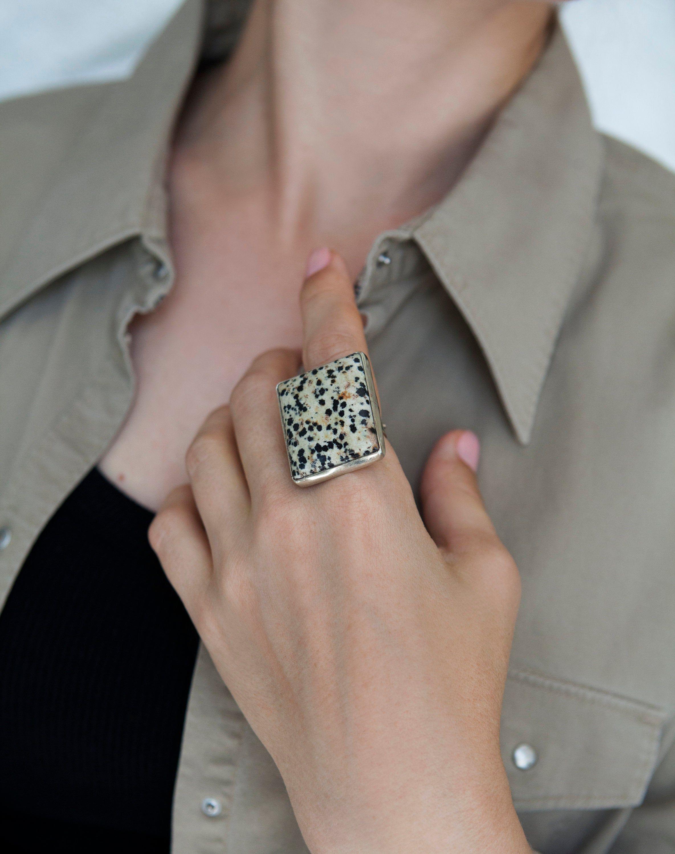 Dalmation Jasper Rings